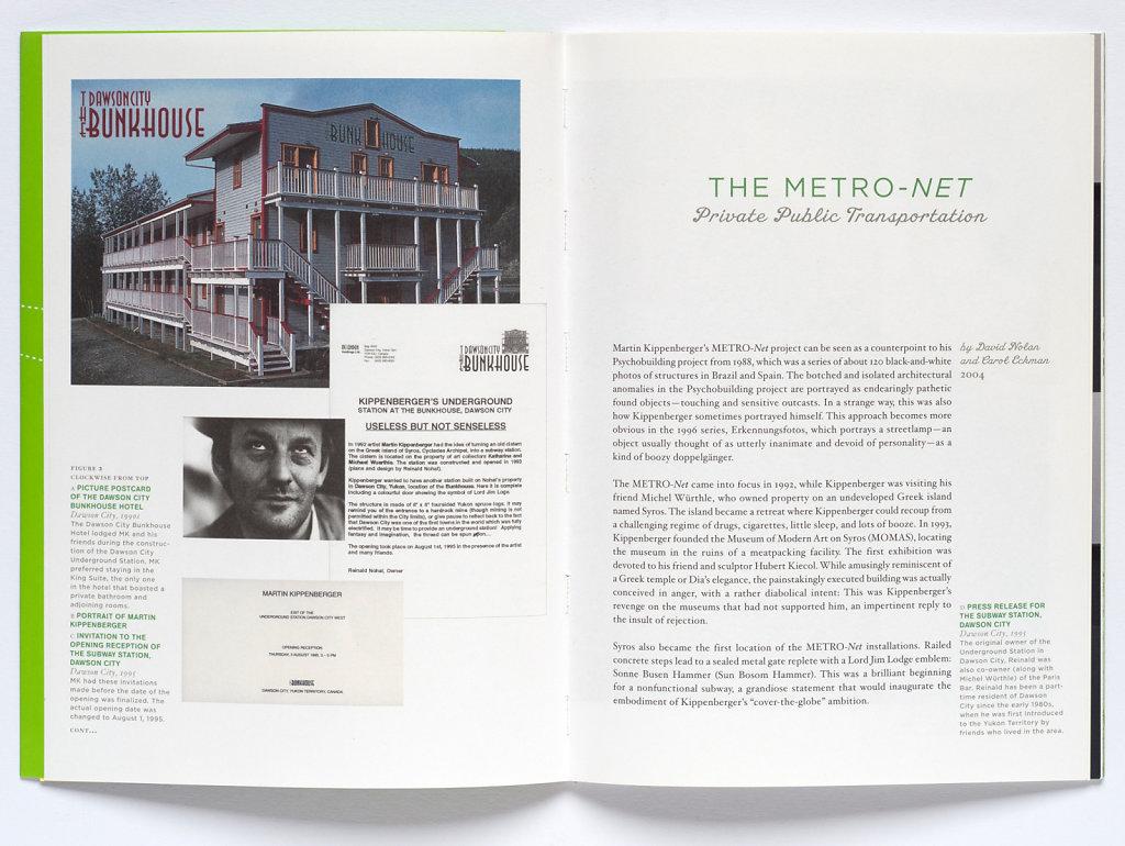 Martin Kippenberger THE METRO-NET Dawson City 1995 Catalogue BERMUDA TRIANGLE, published by Tim Nye 2005
