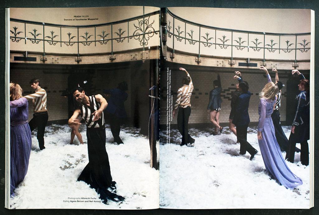 """AnOther Magazine """"Prada FALLEN"""" Tanzthheater Wuppertal Pina Bausch, Wuppertal 2015"""