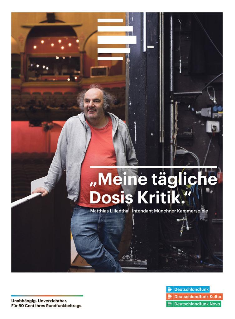 Matthias Lilienthal Munich 2017 for Deutschlandfunk