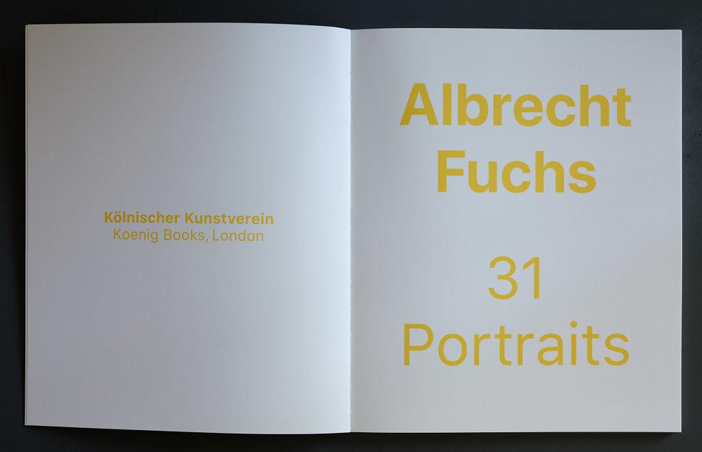 31 Portraits Koenig Books London