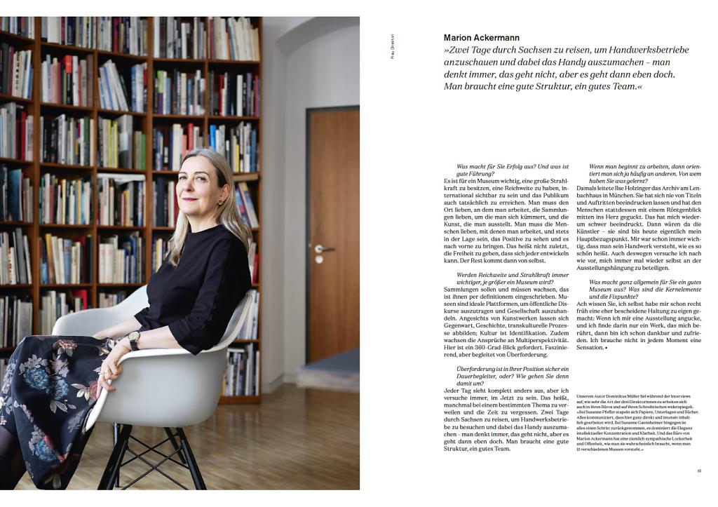 DIE DAME - Frau Direktorin -  Marion Ackermann Dresden 2019