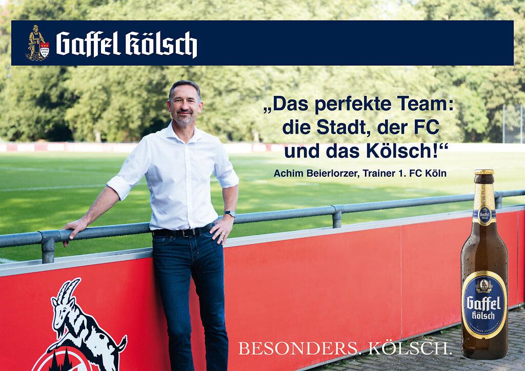 Achim Beierlorzer for Gaffel Kölsch Cologne 2019